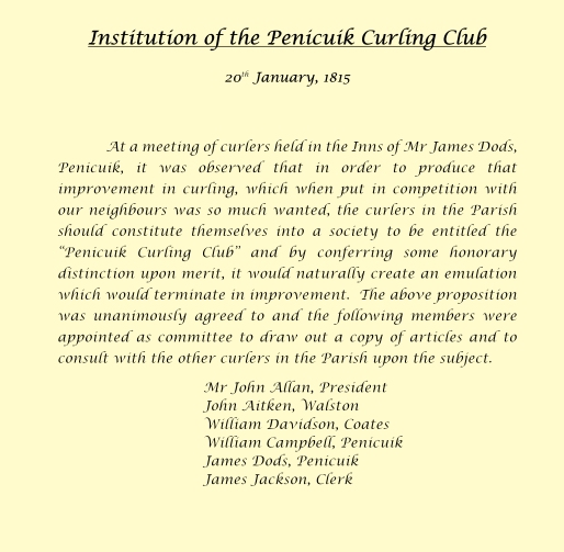 Institution of the Penicuik Curling Club_001a