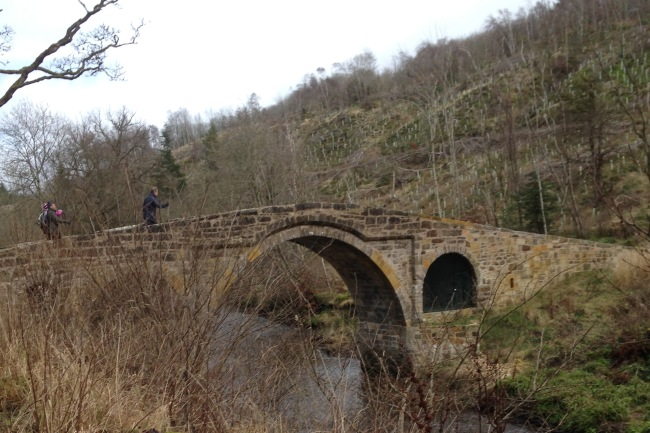 The 'Roman' bridge across the Esk